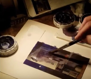 Artist Charlie Ritchie at work