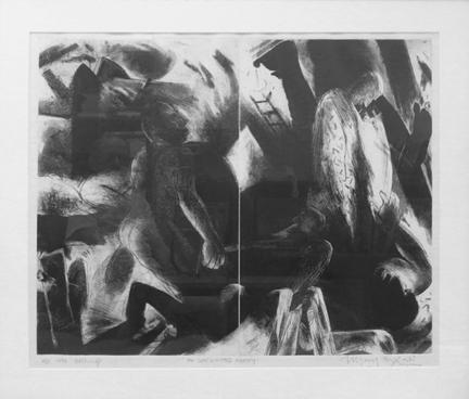 Bagodi, Vijay, An Unlimited Agony, 1994, Etching, AP, 20 x 25 in (framed)
