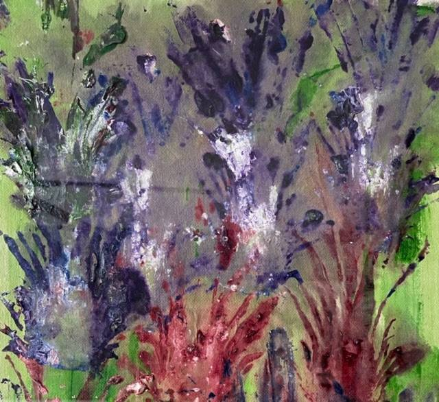 """(Detail) Bill Hutson, """"Untitled,"""" produced on handmade paper from India, 2003"""