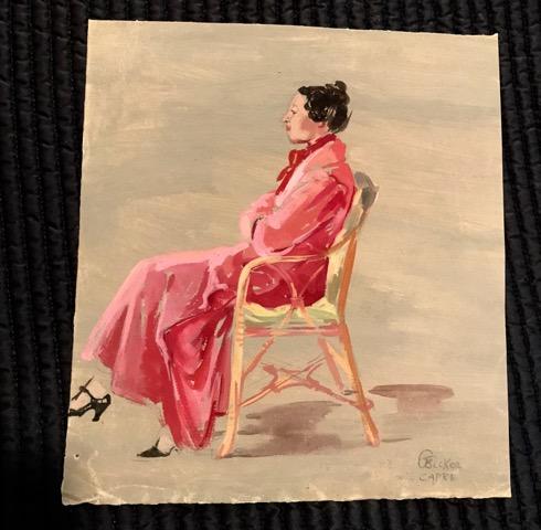 "Gerda Becker, Capri, ca. 1930s, watercolor, 10"" x 11"""