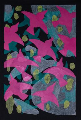 Jeanette Bolden Birds Triptych panel 3