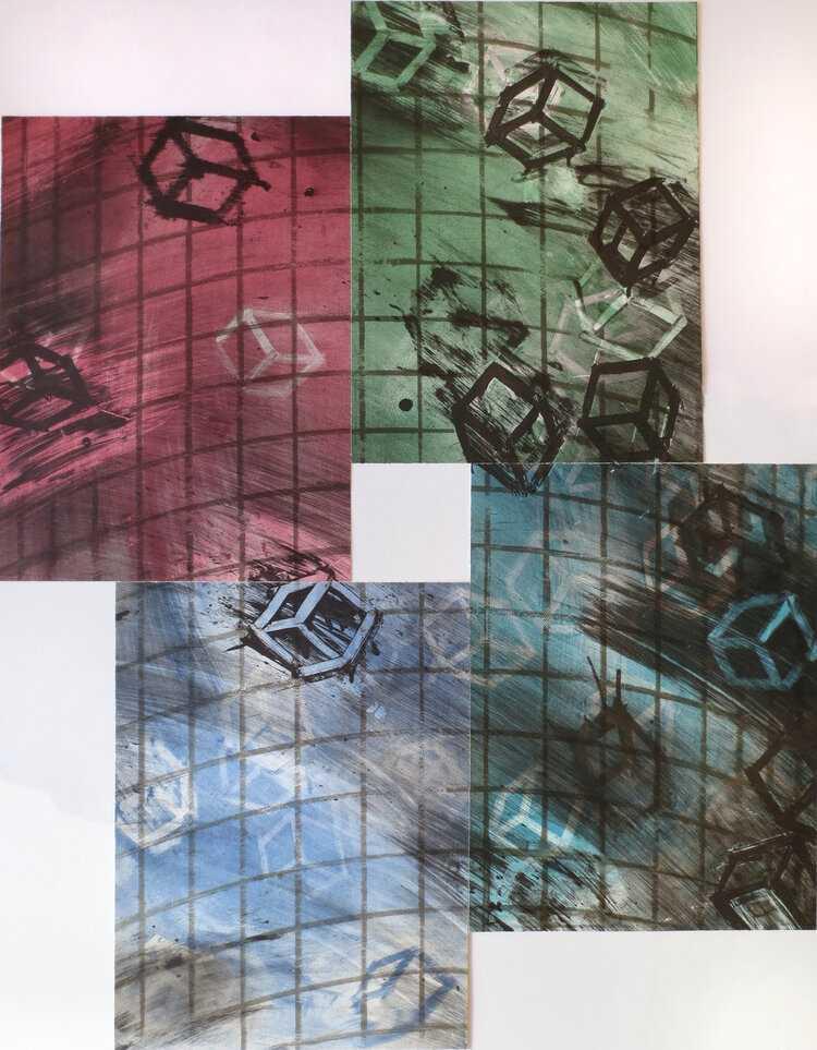 Mel Bochner, Four Color Quartets, Third Quartet, 1990
