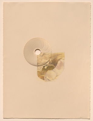 Beverly Ress Open, 2015, Colored pencil on paper, laser-cut, opened.