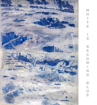 Soledad Salame White is Becoming Blue, 2019. Silkscreen on silk organza