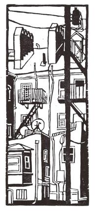 Winkler, Max-Karl, Alleyway-Baltimore, woodcut, 7.4 x 3.3 in http://www.max-karl.com/