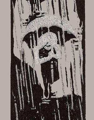 Winkler, Max-Karl, Autumn Rain, woodcut, 13 x 5 in