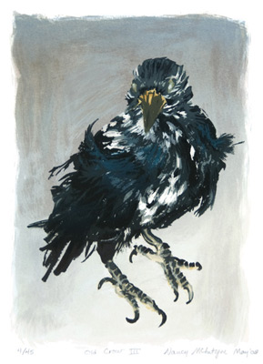 Nancy McIntyre Old Crow III, 1993. Water-based silkscreen print.