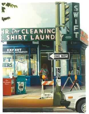 Nancy McIntyre Seventeenth Street, 1991. Water-based silkscreen print.
