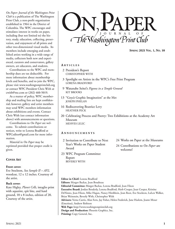 Spring 2021 On Paper Table of Contents